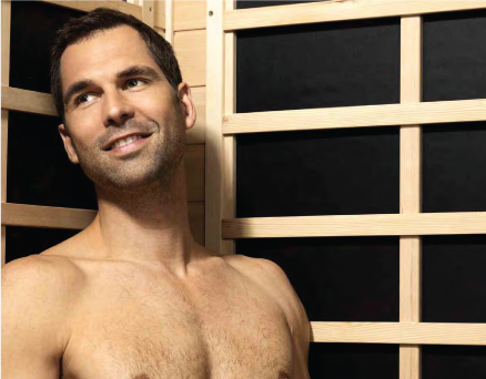 man in Infrared Sauna